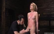 Kristen Scott, Tommy Pistol Blondie deep throat and vagina nailed into fetish