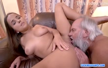 Turned on lady with monstrous breasts loves to boned really rough