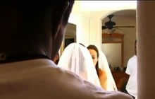 Dirty bride Amber Rayne deepthroats BBC