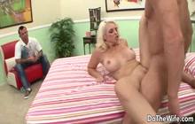 Busty MILF Mandy Sweet fucks while hubby watches